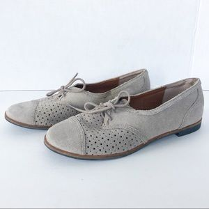 Dolce Vita Suede Oxford Shoes with Cutouts